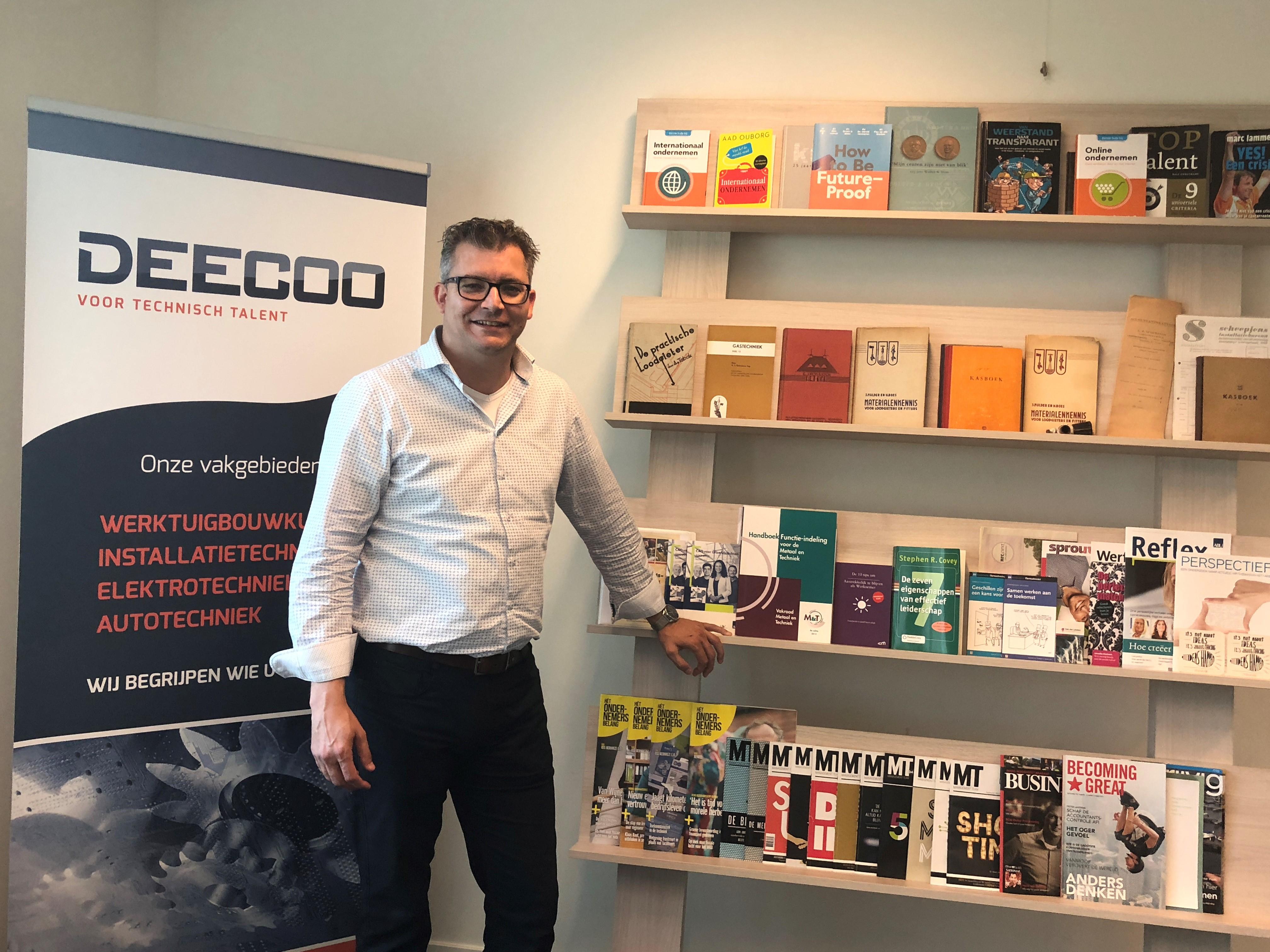Marc Scheepjens, commercieel directeur Deecoo Veghel. Detachering van technisch personeel.